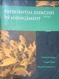 9780130218070: Experiential Exercises in Management