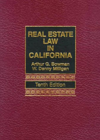 9780130220356: Real Estate Law in California