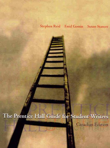 9780130222701: The Prentice Hall Canada Guide for Student Writers