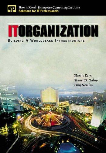 9780130222985: IT Organization: Building A Worldclass Infrastructure