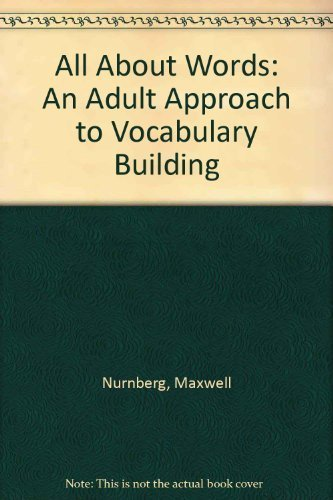 9780130223012: All About Words: An Adult Approach to Vocabulary Building