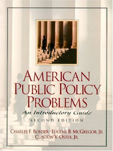9780130223616: American Public Policy Problems: An Introductory Guide (2nd Edition)
