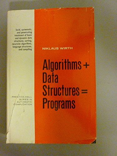 9780130224187: Algorithms + Data Structures = Programs (Prentice-Hall Series in Automatic Computation)