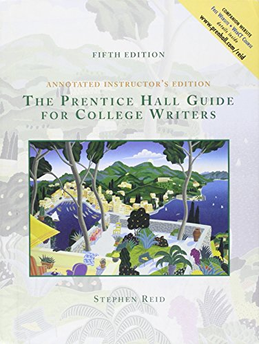 9780130225474: The Prentice Hall Guide for College Writers