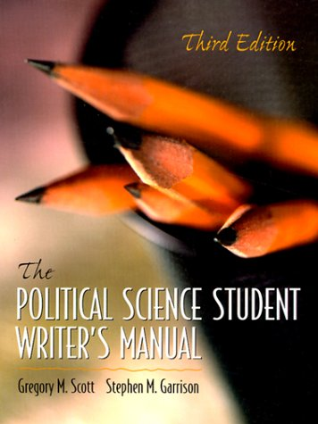 9780130225580: The Political Science Student Writer's Manual