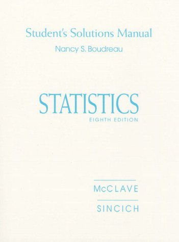 9780130225603: Statistics: Student's Solutions Manual