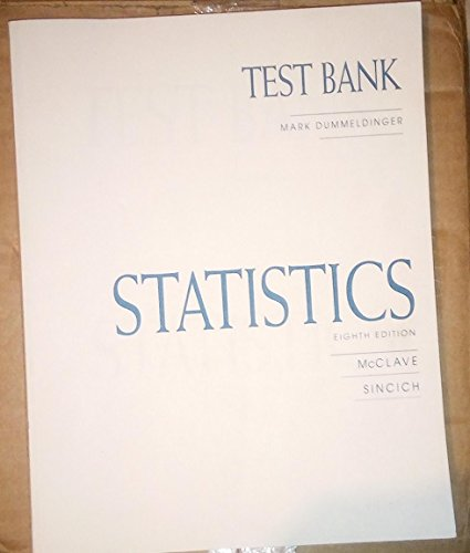 9780130225726: Statistics Test Bank ISBN# 013022572x