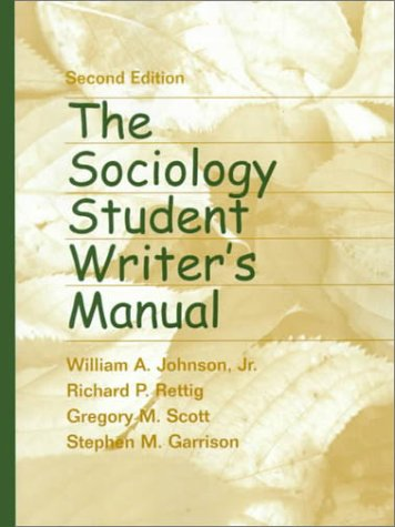 9780130226303: The Sociology Student Writer's Manual (2nd Edition)