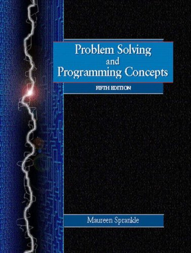 9780130229670: Problem Solving and Programming Concepts (5th Edition)