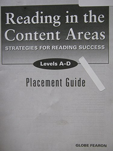 9780130233394: Reading in the content areas : strategies for reading success. Levels A-D Placement guide