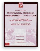 GLOBE FEARON'S SECONDARY READING ASSESSMENT INVENTORY 2000C: Education, Pearson