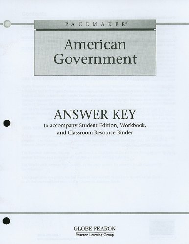 9780130236104: Pacemaker American Government: Answer Key