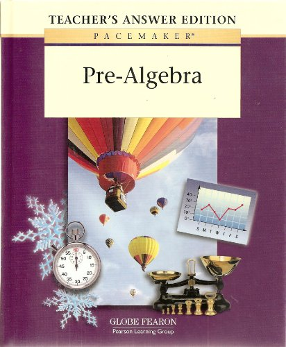 9780130236340: Pacemaker Pre Algebra Teacher Answer Second Edition 2001c (Fearon's Pre-Algebra)