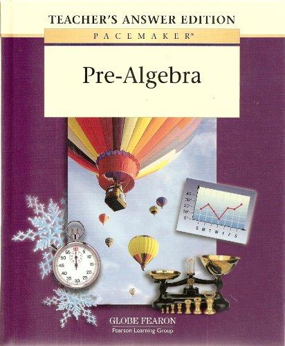 9780130236340: Pacemaker Pre Algebra Teacher Answer Second Edition 2001c (Fearon's Pre-Algebra)