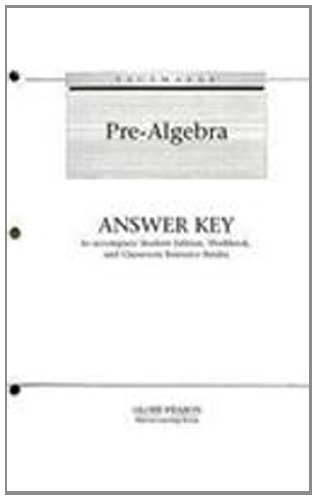 9780130236371: Pacemaker Pre-Algebra Answer Key: To Accompany Student Edition, Workbook, and Classroom Resource Binder (Fearon's Pre-Algebra)