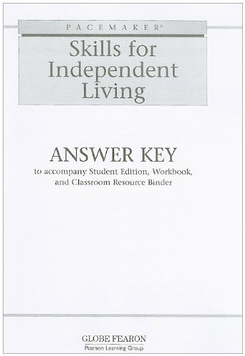 9780130238276: PACEMAKER SKILLS FOR INDEPENDENT LIVING ANSWER KEY 2002C