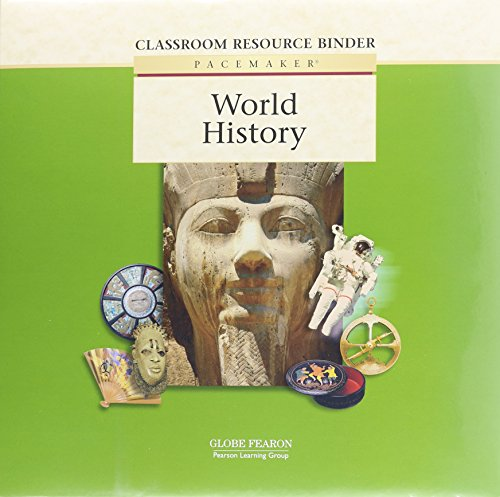 9780130238320: Pacemaker World History Classroom Resource Binder