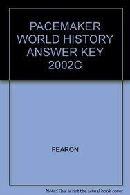 9780130238337: PACEMAKER WORLD HISTORY ANSWER KEY 2002C