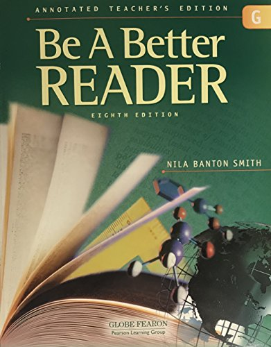 9780130238849: BE A BETTER READER LEVEL G ANNOTATED TEACHERS EDITION 2003C