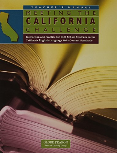 9780130239488: MEETING THE CALIFORNIA CHALLENGE ENGLISH/LANGUAGE TEACHER'S MANUAL (MEETING THE CALIFORNIA CHALLENGE IN ENGLISH)