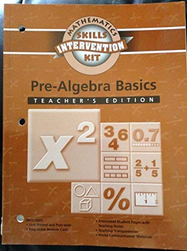 9780130241009: MATH SKILLS INTERVENTION PRE-ALGEBRA BASICS TEACHER'S EDITION 2003