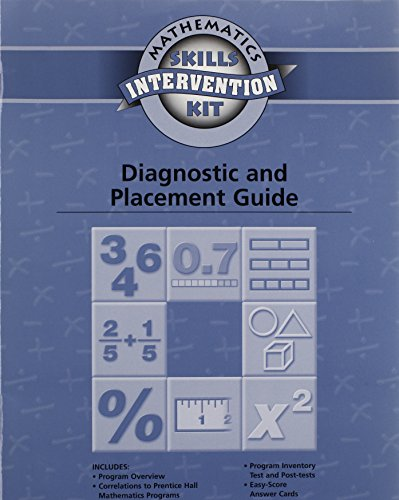 9780130241252: Math Skills Intervention Diagnostic and Placement Guide 2003