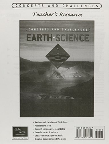 9780130242822: GLOBE FEARON CONCEPTS AND CHALLENGES PRINTED TEACHER'S RESOURCE EARTH   SCIENCE 2003 (NATL)