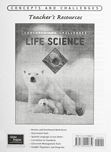 9780130242839: GLOBE FEARON CONCEPTS AND CHALLENGES PRINTED TEACHER'S RESOURCE LIFE SCIENCE 2003 (NATL)