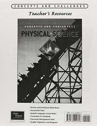 9780130242846: GLOBE FEARON CONCEPTS AND CHALLENGES PRINTED TEACHER'S RESOURCE PHYSICALSCIENCE 2003 (NATL)