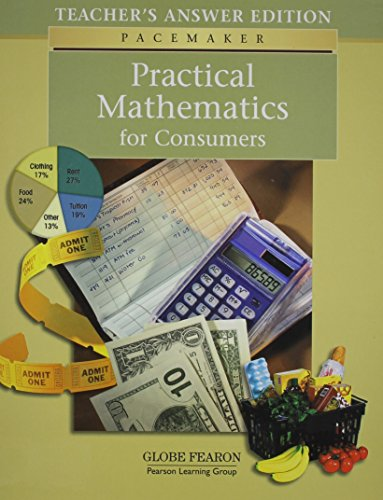 9780130243164: Pacemaker Practical Math Teacher's Answer Edition 2004 (Fearon Practical Math for Consumers)