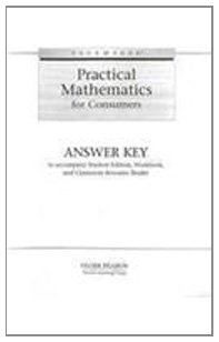 9780130243195: PACEMAKER PRACTICAL MATH ANSWER KEY 2004 (Fearon Practical Math for Consumers)