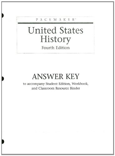 9780130244222: PACEMAKER UNITED STATES HISTORY ANSWER KEY FOURTH EDITION 2004 (Pacemaker (Paperback))