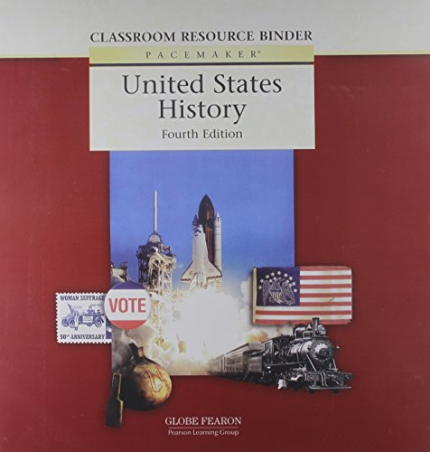9780130244277: Pacemaker United States History Classroom Resource Binder Fourth Edition 2004 (Fearon Us History)