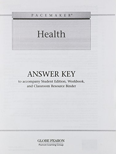 9780130246981: PACEMAKER HEALTH ANSWER KEY 2005C (Fearon Health)