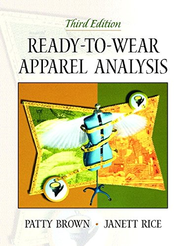 9780130254344: Ready-to-Wear Apparel Analysis (3rd Edition)