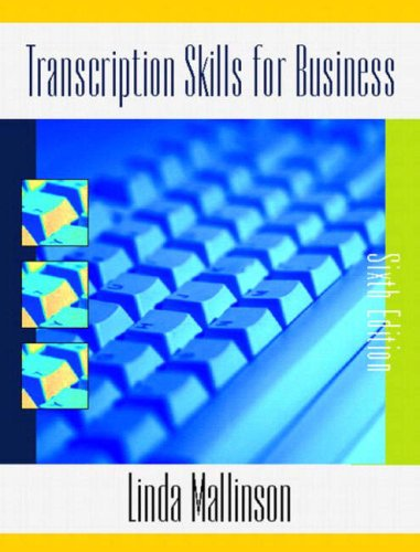 9780130254375: Transcription Skills for Business (6th Edition)