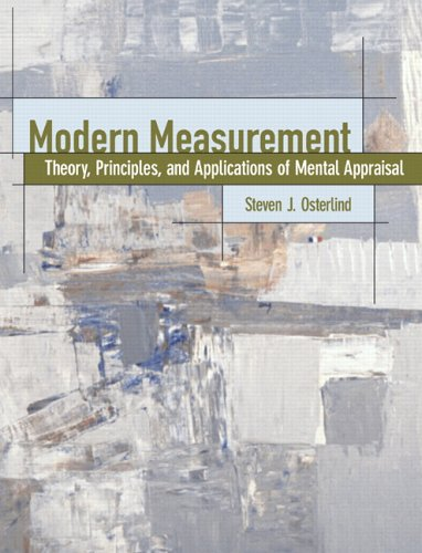 9780130255907: Modern Measurement: Theory, Principles, and Applications of Mental Appraisal