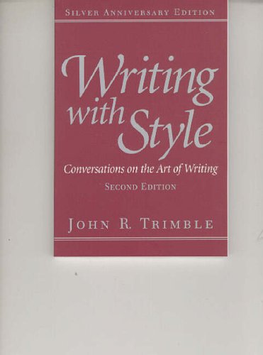 9780130257130: Writing with Style: Conversations on the Art of Writing
