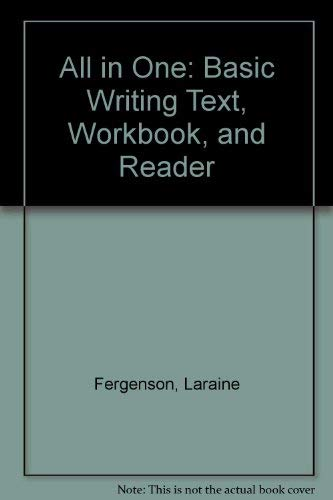 All in One: Basic Writing Text, Workbook,: Laraine Fergenson, Marie-Louise