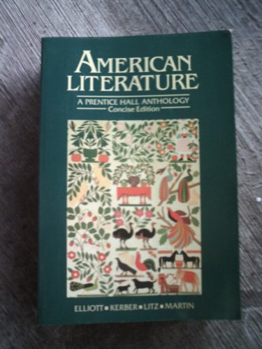 9780130257505: American Literature: A Prentice Hall Anthology/Concise Edition