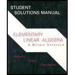 9780130257512: Elementary Linear Algebra: Matrix Approach Student Solutions Manual