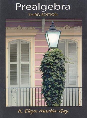 9780130260376: Prealgebra (3rd Edition)