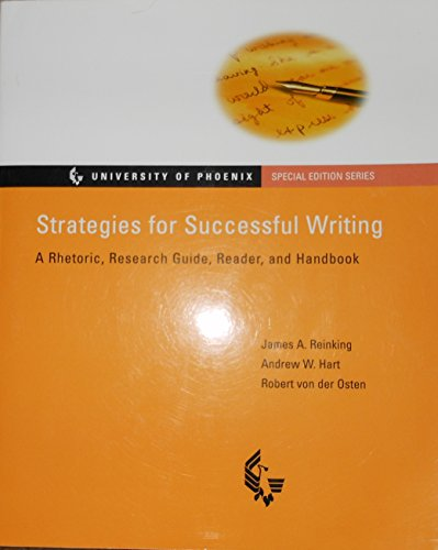 9780130261083: Strategies for Successful Writing: A Rhetoric, Research Guide and Reader