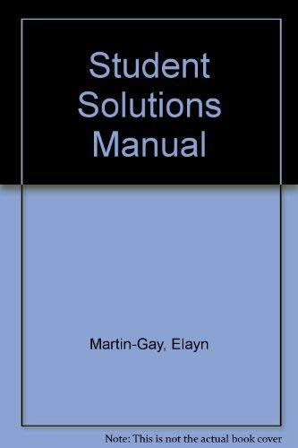 Prealgebra Students Solutions Manual Laurel Technical Services: Martin-Gay, K. Elayn