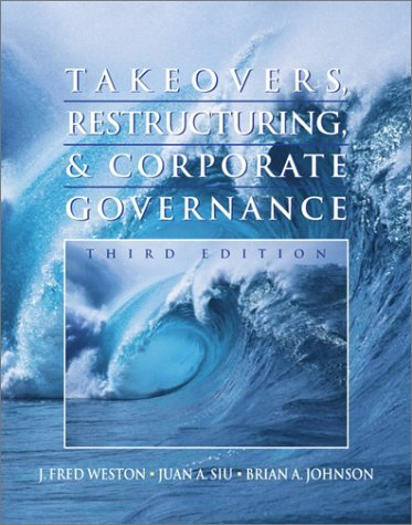9780130265050: Takeovers, Restucturing, and Corporate Governance (Prentice Hall Finance Series)