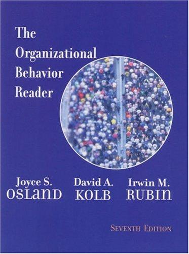 9780130265548: The Organizational Behavior Reader (7th Edition)