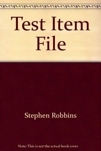 9780130265944: Test Item File: Fundamentals of Management