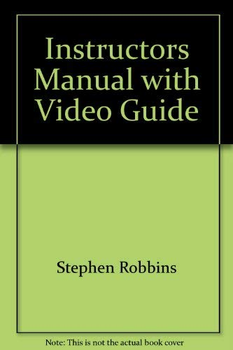 Instructors Manual with Video Guide: Stephen; DeCenzo, David