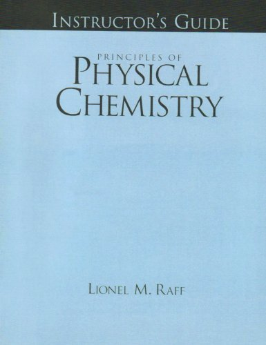 9780130266712: Instructor's Guide for Principles of Physical Chemistry