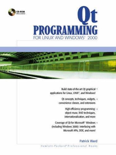 9780130270016: Qt Programming for LINUX and Windows 2000 (Hewlett-Packard Professional Books)